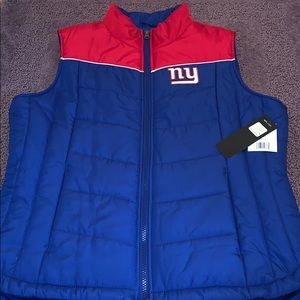 Women's NY Giants Licensed Puffer Vest!!